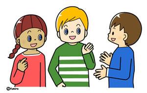 クリップアート小学生と先生2 子供と動物のイラスト屋さん