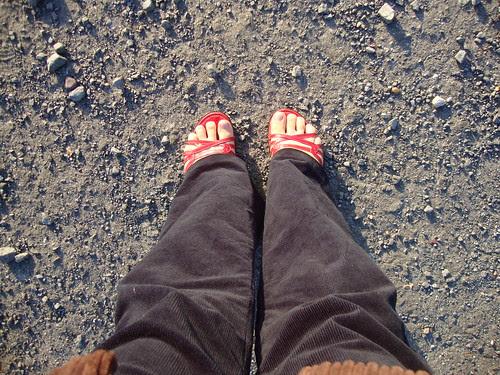 My feet at the sunrise