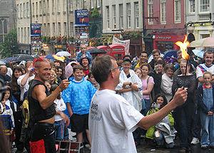Royal Mile street performance