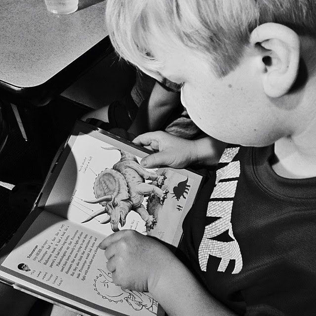 Such a joy to finally see him devouring a book...he has worked soooo hard! #homeschool, #1000gifts