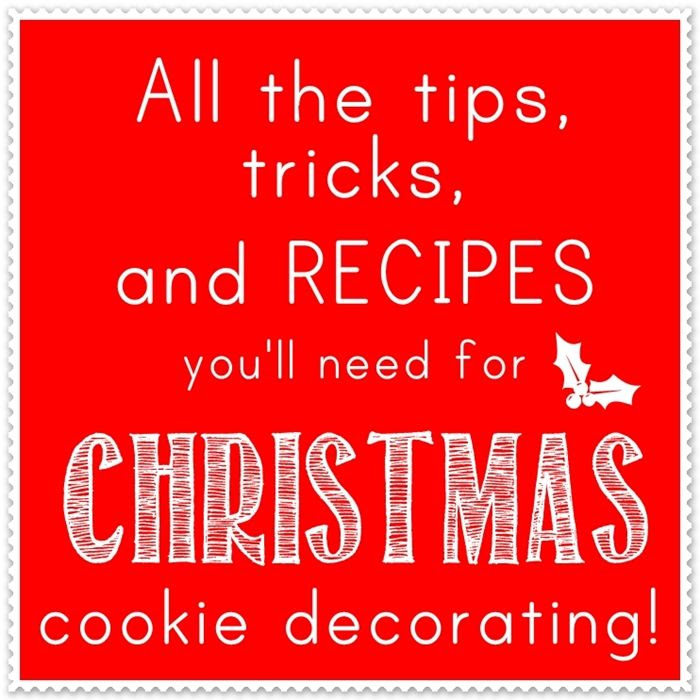 christmas cookie decorating tips, tricks, and recipes