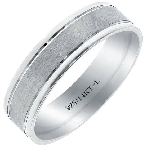 photo  mens sterling silver wedding bands