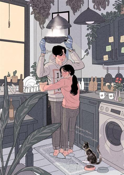 myeong minho digital art desenhos de casais