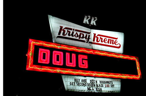 Doug Krispy Kreme Neon Sign Signage