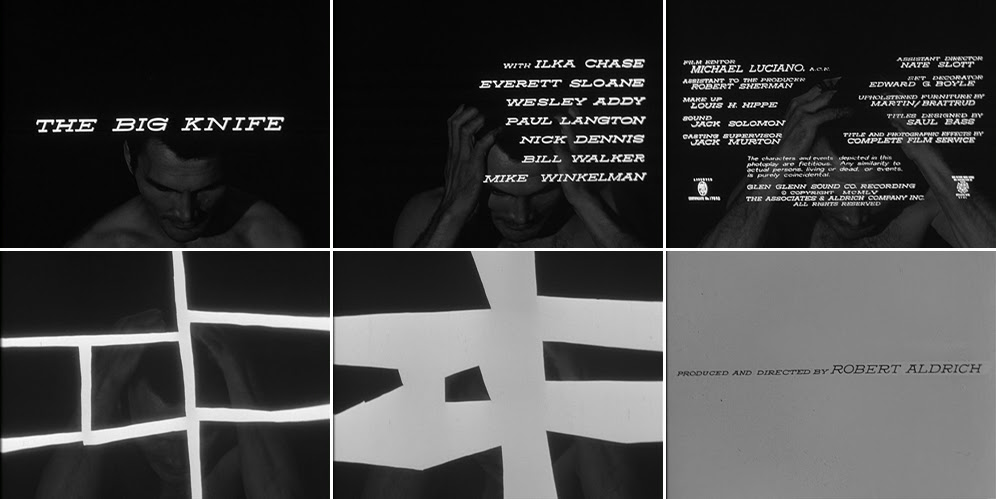 The big knife 1955 title sequence