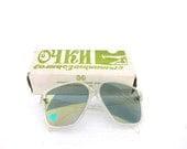 Spring sunglasses soviet oversized vintage from 80s large statement original box - SoYesterdaySoCool
