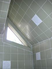 triangular window with tile