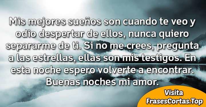 Frases De Buenas Noches Bonitas De Amor Para Mi Novia O Novio