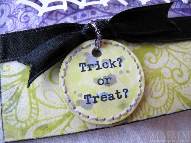 Trick or Treat custom chipboard tag