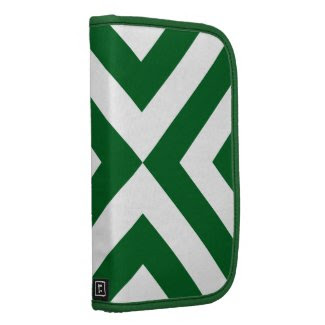 Green and White Chevrons Folio Planners