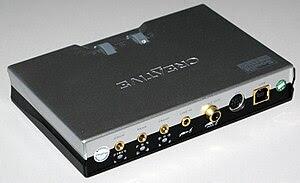 English: USB soundcard Soundblaster Live! 24-b...