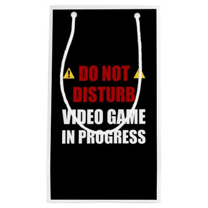 Do Not Disturb Video Game Small Gift Bag