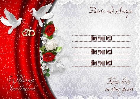 Wedding invitation background designs psd free download 13