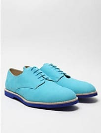 T & F Slack Mens Nubuck Turquesa Derby Shoe With Micro Sole