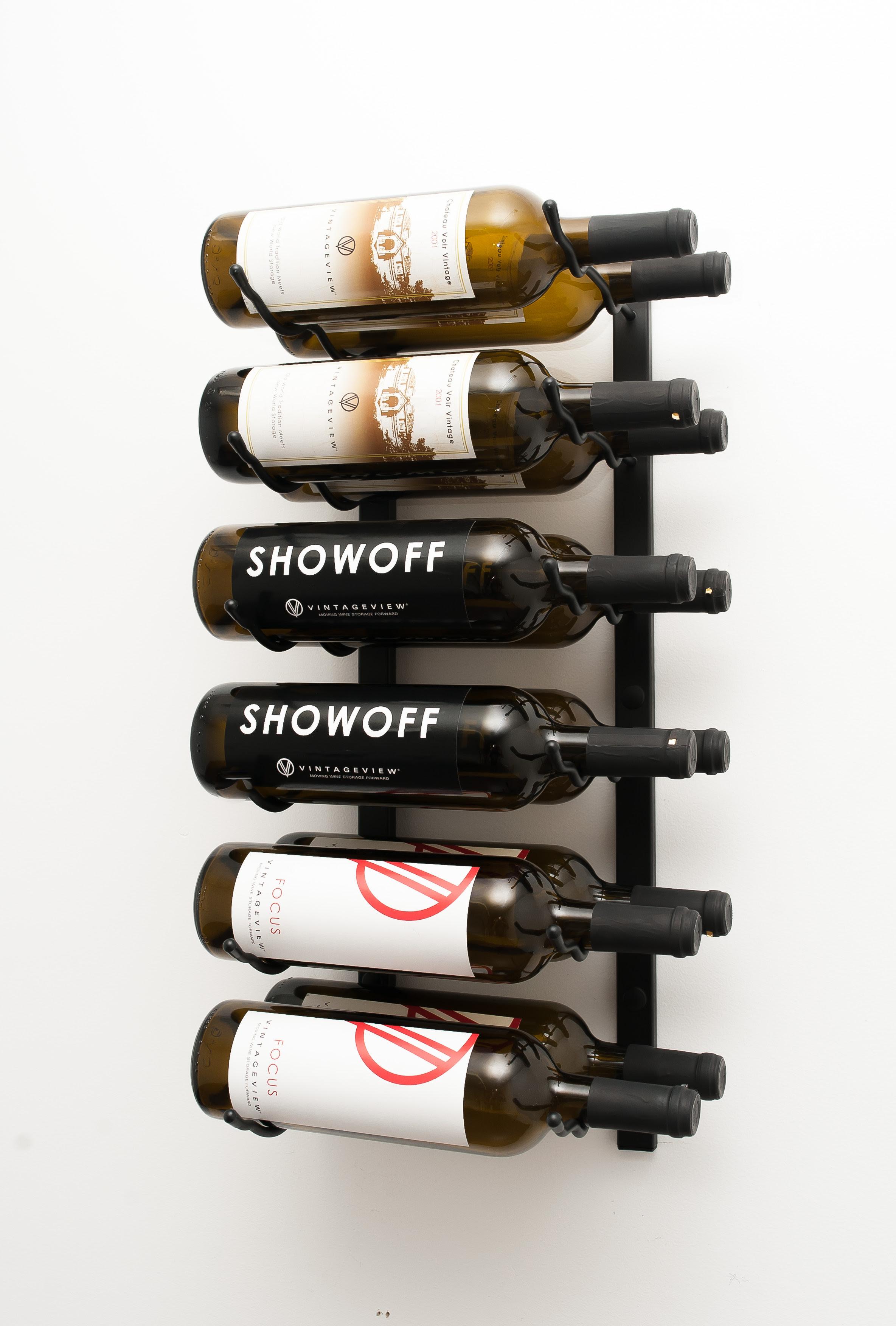 2 Ft Wall Series Metal Wine Rack 6 To 18 Bottles Vintageview