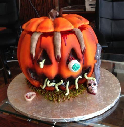 Gâteau horreur en forme de citrouille pour halloween   19