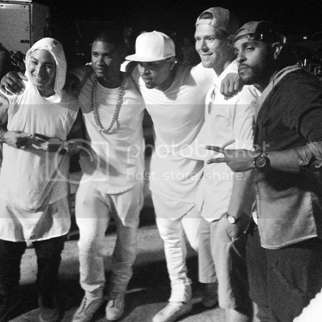 Snapshots: More from Chris Brown & Usher's 'New Flame' video set...