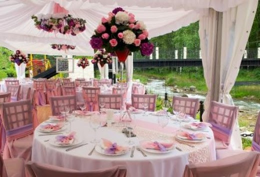 Outdoor Wedding Ideas - Shelter and Lighting