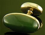 Carrington jade cufflinks. (J9304)