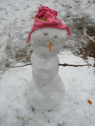 Sophia's Finished Snowman