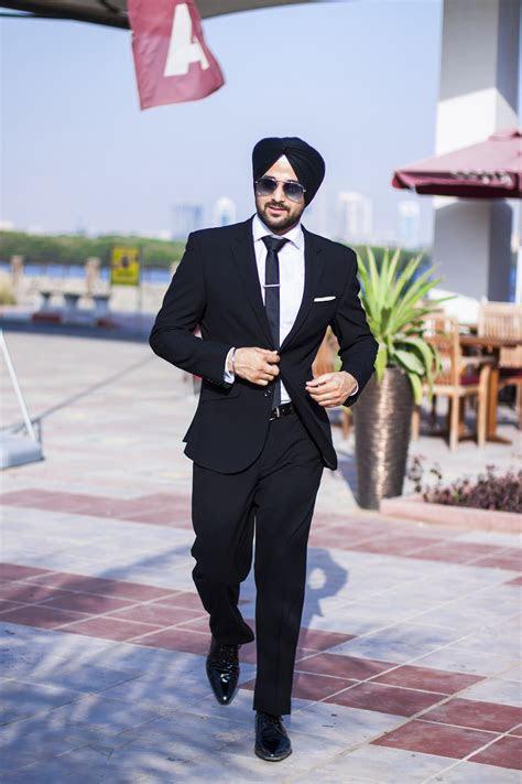 sikh model sikh men fashion style urban sardar model black