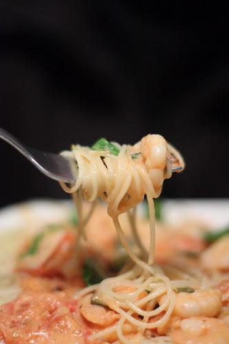 shrimp pasta with mascarpone