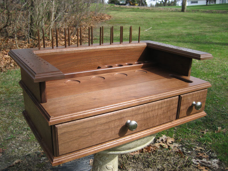 Fly Tying Table Woodworking Plans Hi Small Wood Projects