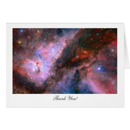 Carina Nebula - Saying Thank You Greeting Card