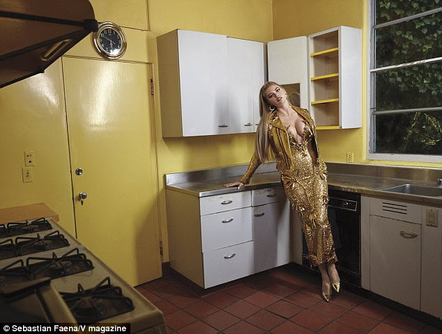 Hot in the kitchen! Kate Upton sizzled as she was reimagined as a housewife in a new photo shoot for V Magazine