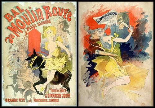 Bal au Moulin Rouge - Le Courrier Français -- Jules Chéret