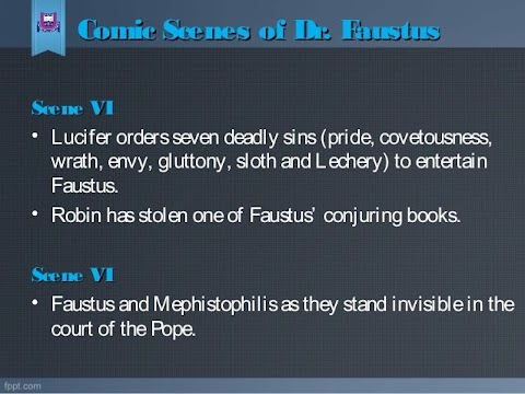 Discuss The Comic Scenes In Doctor Faustus