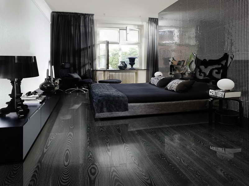 Black Hardwood Flooring As An Excellent Combination Of ...