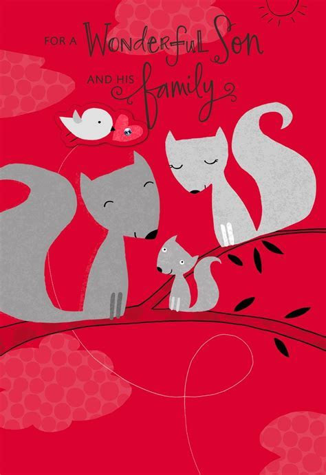 Loving Squirrels for Son and His Family Valentine's Day