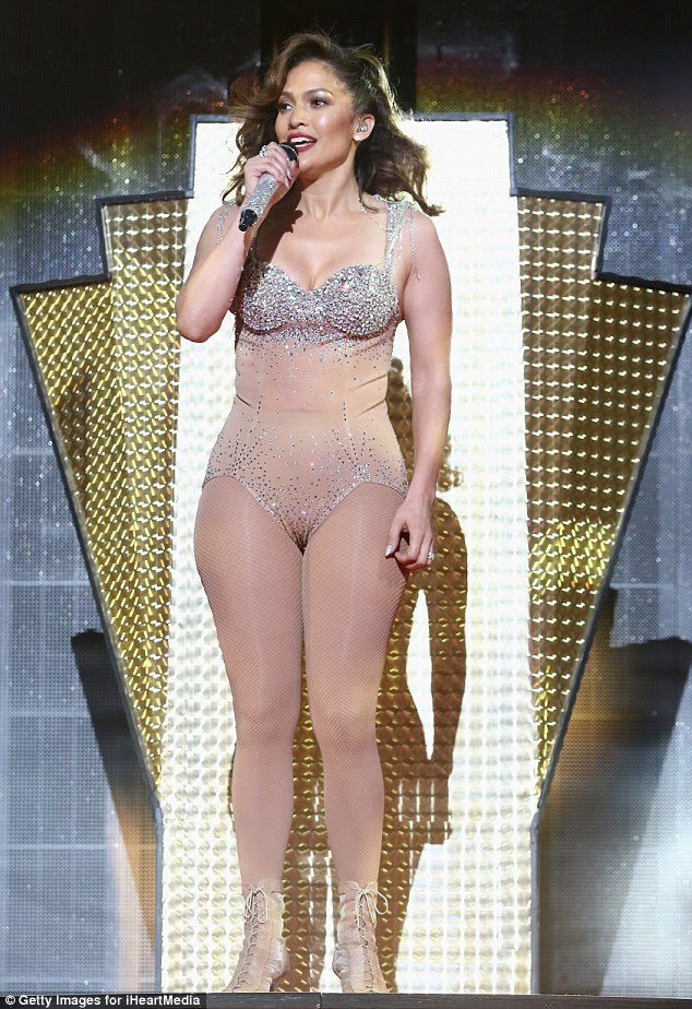 Quite a show:As the show went on, more and more of her clothes came off