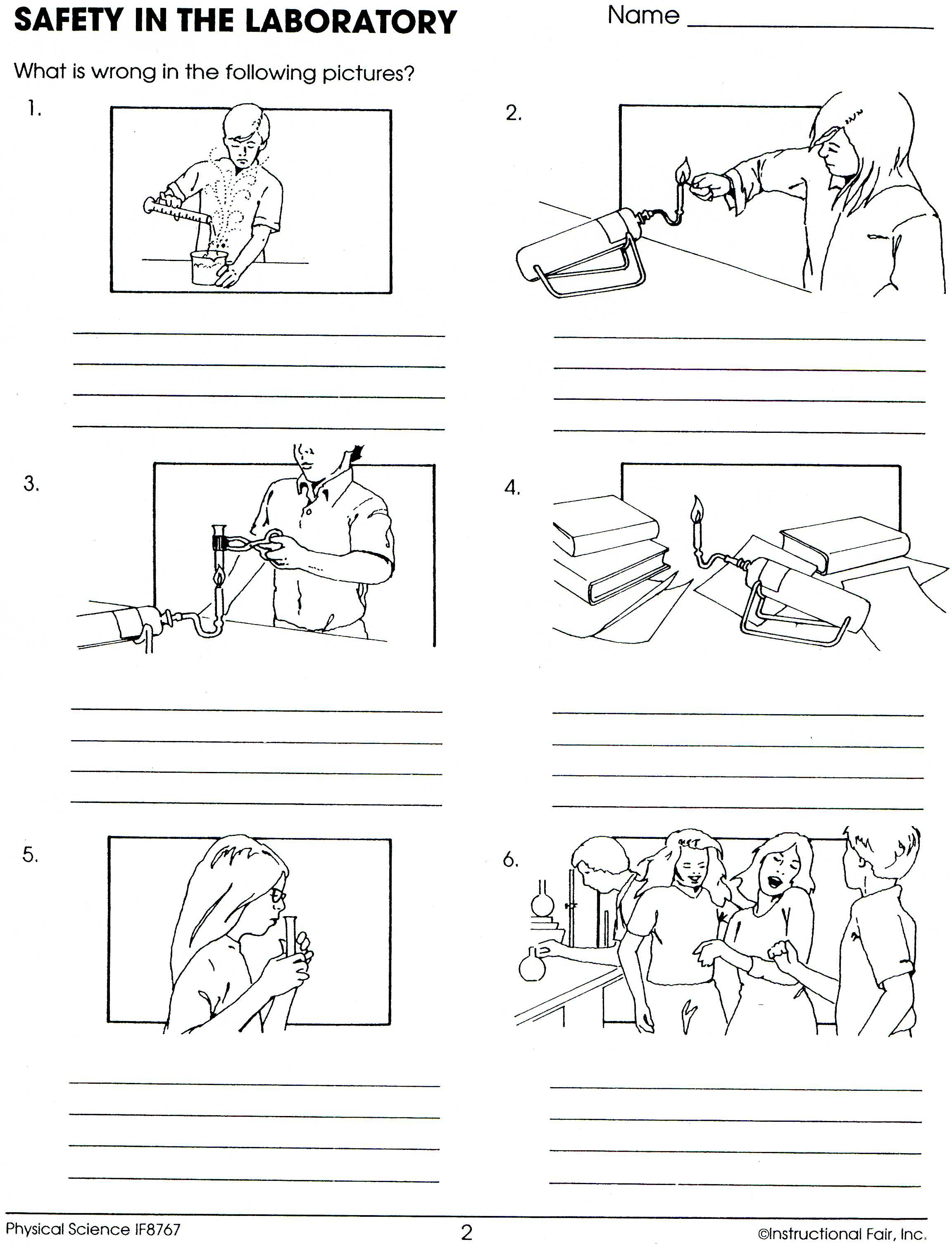 Lab Safety Review Worksheet