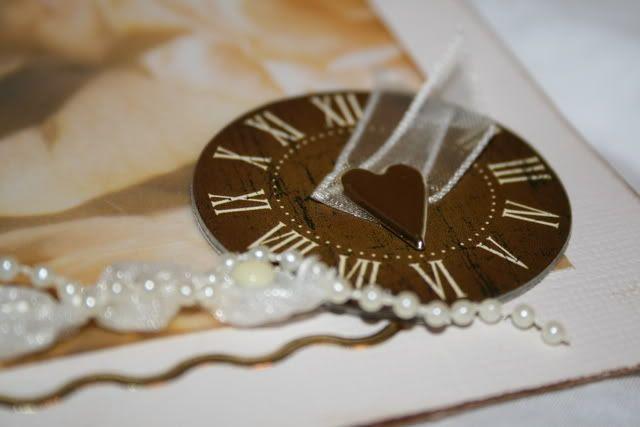 Bryllupskort - detaljer fremsiden