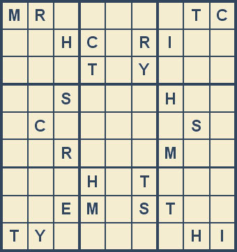 Mystery Godoku Puzzle for August 06, 2007