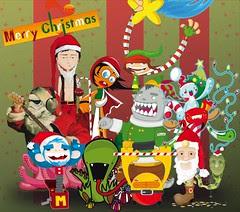 Collab Felíz Navidad (collage vectores)