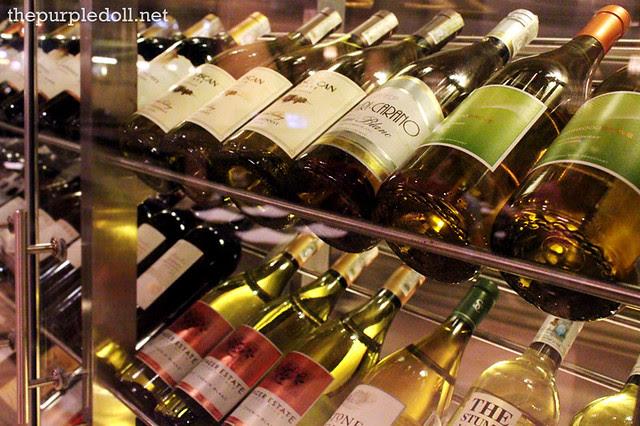 Village Tavern Wine Bottles