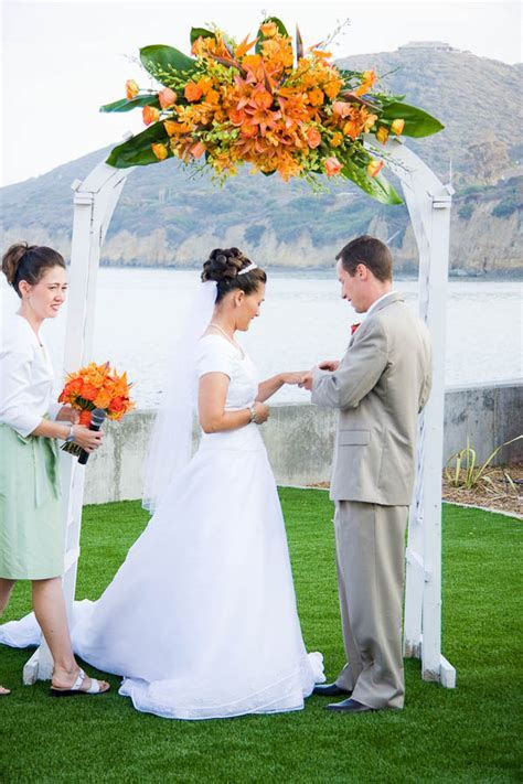 Oceanview Room Wedding Photos   San Diego Temple Weddings