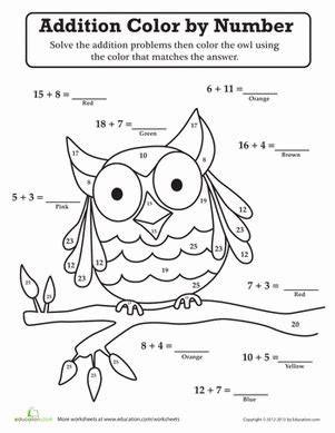 coloring pages  grade addition animals worksheets