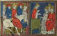 Urban II, 12th century, from Roman de Godfroi de Bouillon