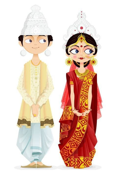 Saree clipart hindu wedding   Pencil and in color saree