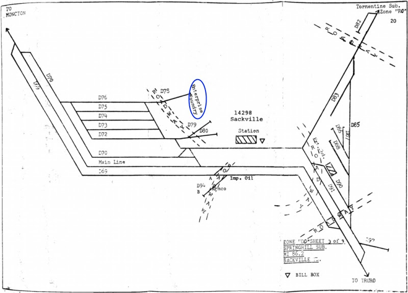 CN Sackville Track Diagram
