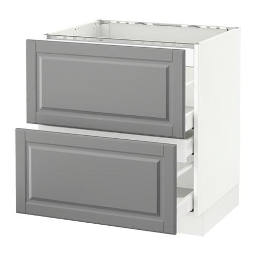 SEKTION Base cabinet f/cooktop w/3 drawers - Ma, Bodbyn ...