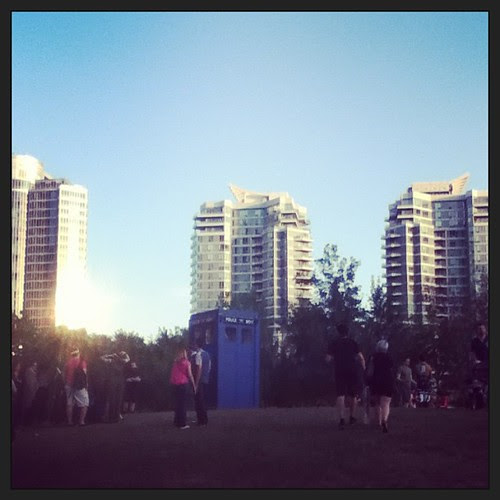 We found a Tardis after Fan Expo today! #doctorwho #tardis #fanexpocanada