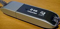 Photo of a Toshiba 2Gb TransMemory Flash Drive...