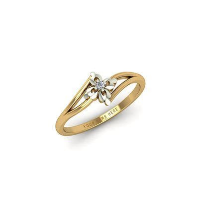 Gold engagement rings for couple with names engraved