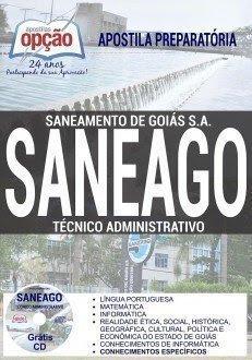 Apostila Saneamento de Goiás S.A. SANEAGO Agente de Administrativo