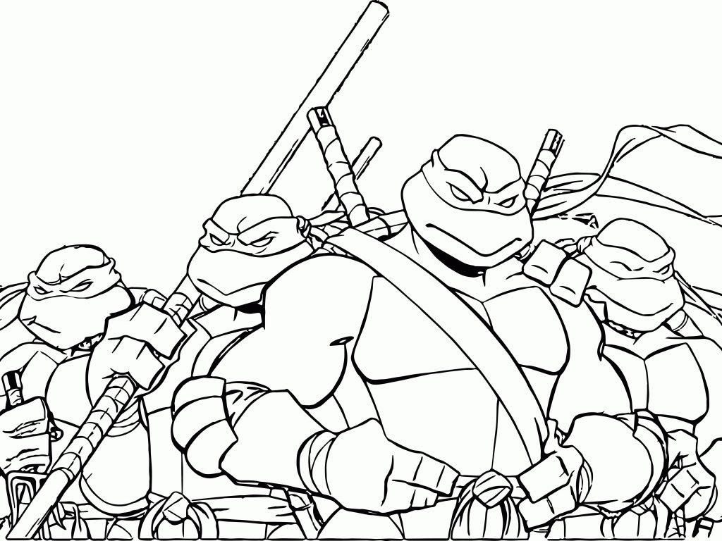 Teenage Mutant Ninja Turtles Coloring Pages Printable at ...